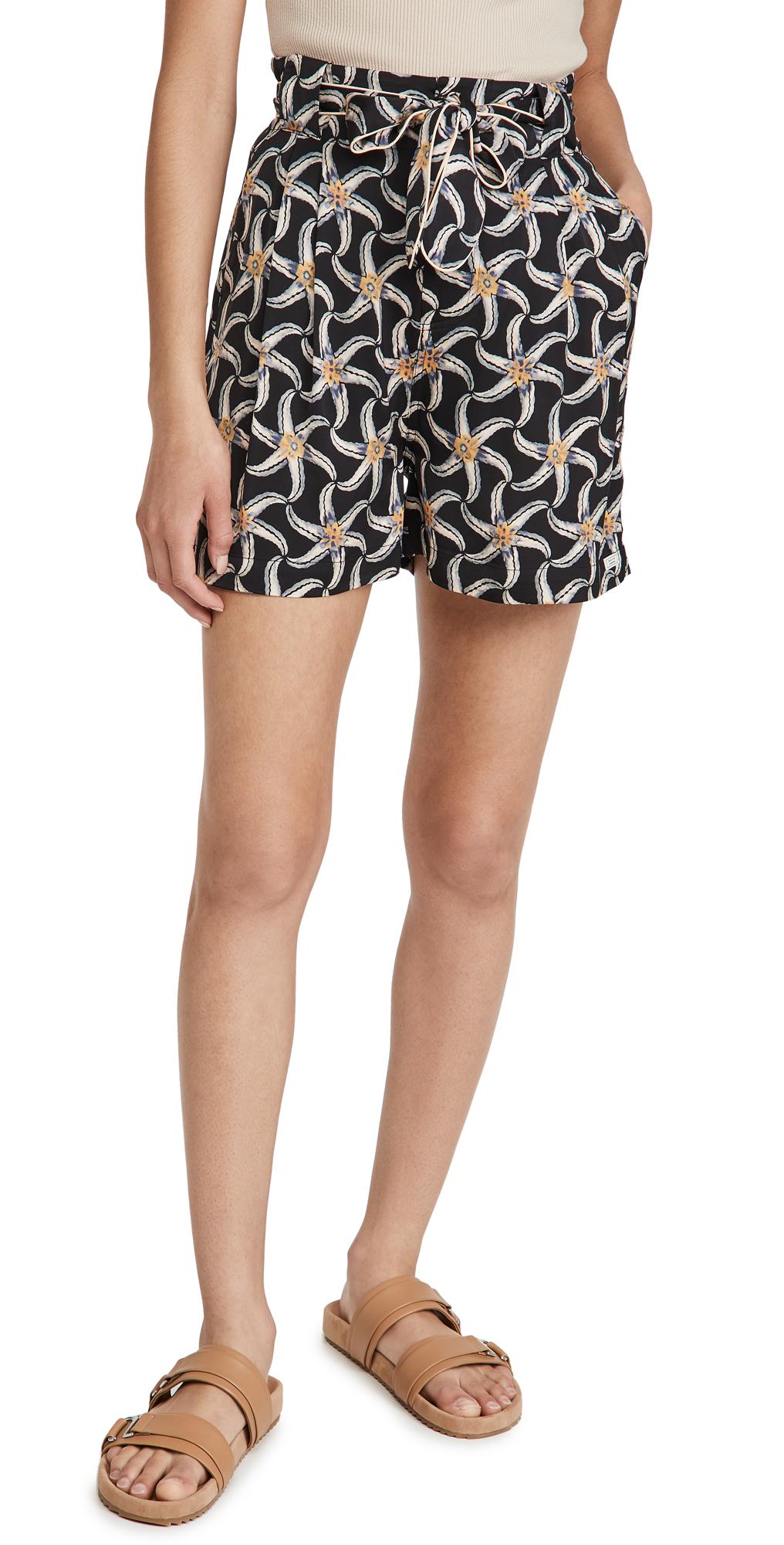 Scotch & Soda Starfish Print Shorts In 0222-combo F