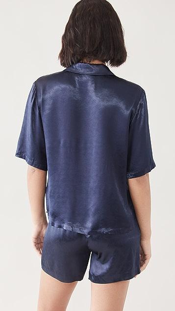 Scotch & Soda 波纹提花织物短袖衬衫