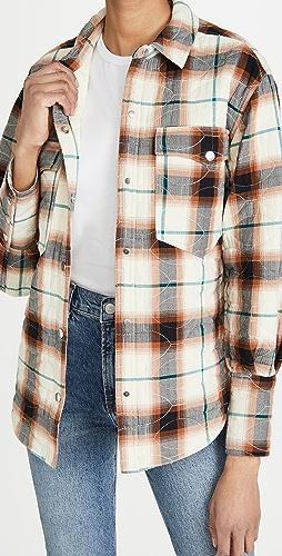 Scotch & Soda - 别致绗缝格纹衬衣式夹克