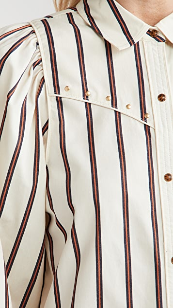 Scotch & Soda Western Shirt With Balloon Sleeves