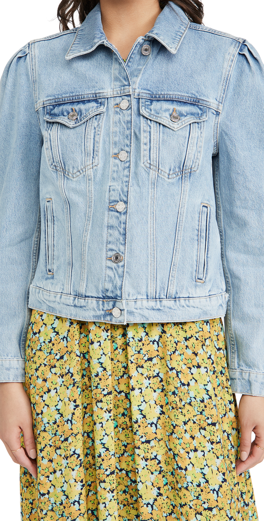 Scotch & Soda PUFF SLEEVE DENIM JACKET