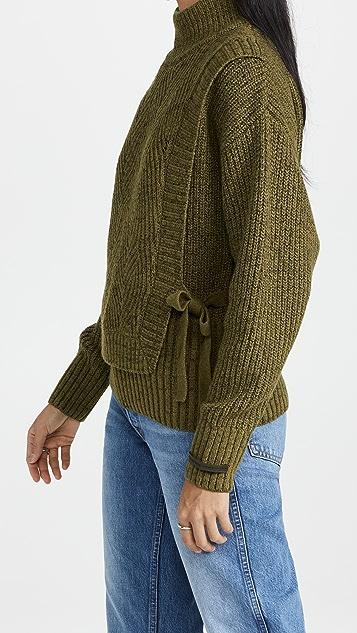 Scotch & Soda 罗纹羊毛混纺毛衣