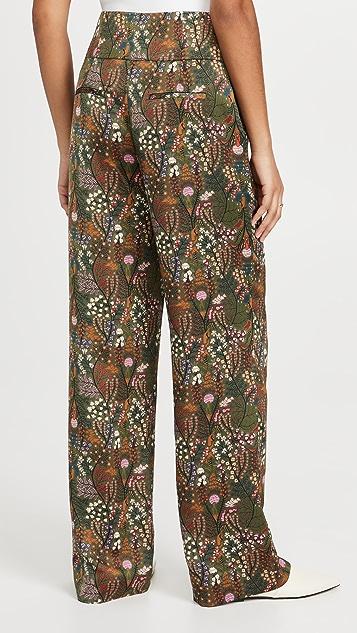 Scotch & Soda Printed Wide Leg High-Rise Pants