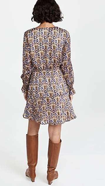 Scotch & Soda Printed Long Sleeved Mini Dress