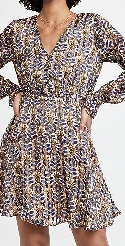 Scotch & Soda - Printed Long Sleeved Mini Dress