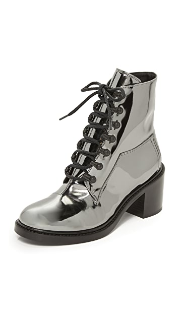 MM6 Lace Up Booties