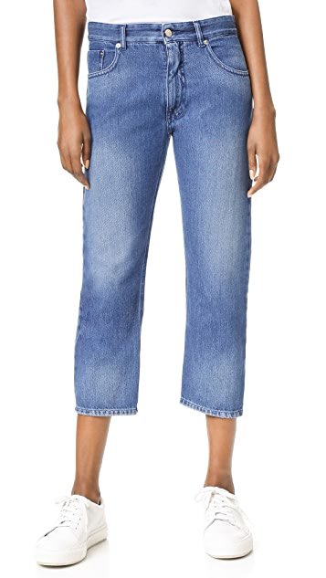 MM6 Stone Washed Jeans with Ripped Pockets