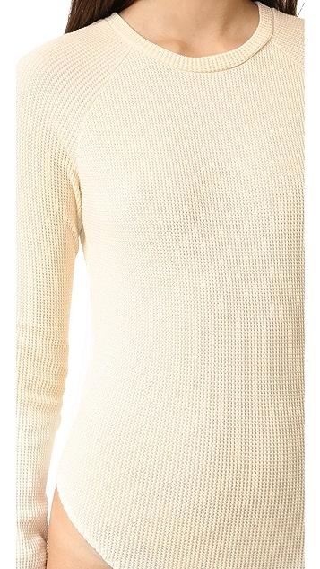 MM6 Waffle Knit Bodysuit