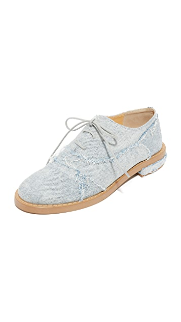MM6 Patchwork Denim Oxfords