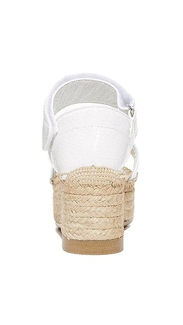 MM6 Platform Espadrille Sandals