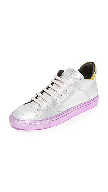 MM6 Leather Lace Up Sneakers