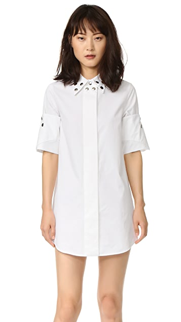 MM6 Cinched Grommet Shirtdress