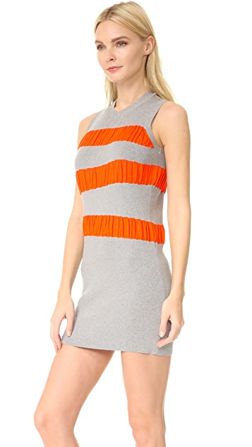 MM6 Ruffle Stripe Dress