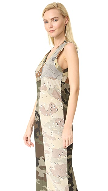 MM6 Printed Camouflage Dress