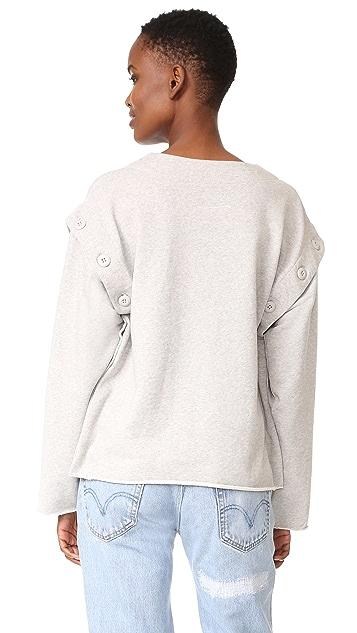 MM6 Button Convertible Sweatshirt