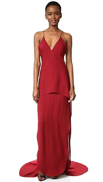 Maiyet Long Peplum Gown