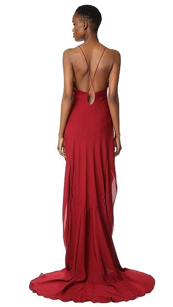 Maiyet Long Peplum Gown