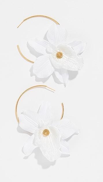 Mallarino Orchid Hoop Earrings