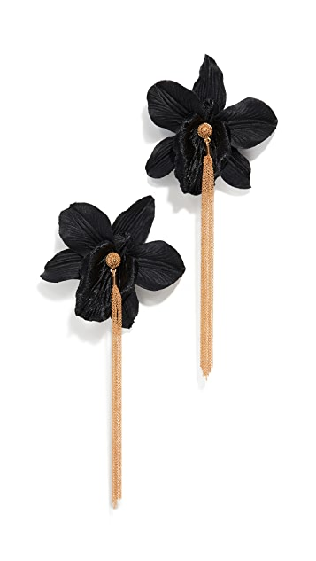 Mallarino Orchid Chain Stud Earrings