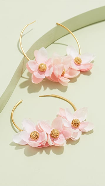 Mallarino Gabby Hoop Earrings