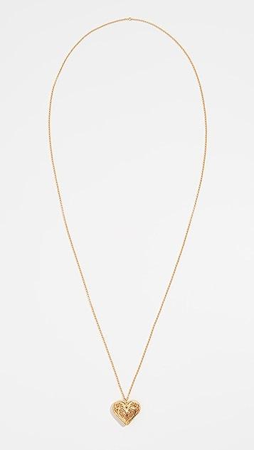 Mallarino Antonia Heart Charm Necklace
