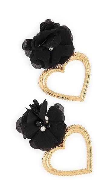 Mallarino Margot Black Flower Earrings