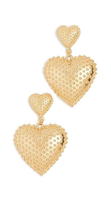 Mallarino Marguerite Two Heart Earrings