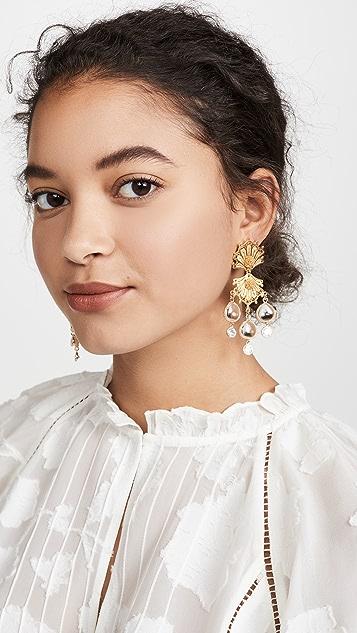 Mallarino 双贝壳耳环