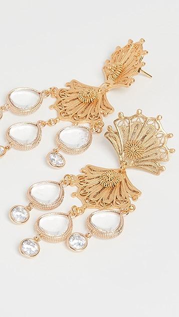Mallarino Double Shell Earrings
