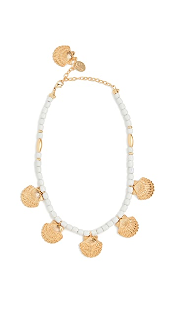 Mallarino White Handmade Ceramic Necklace with Marina Small Charms