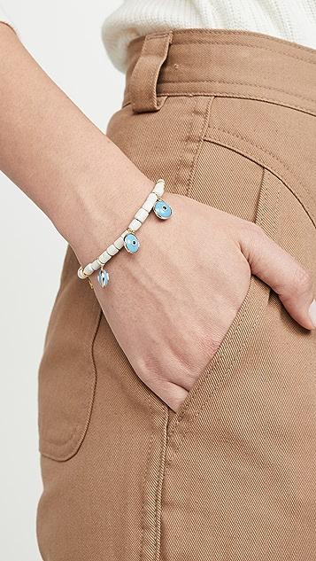 Mallarino 白色手工制作陶瓷手链