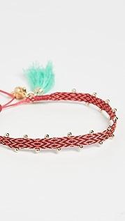 Mallarino Fluo, Hand Sewn Cotton Friendship Bracel