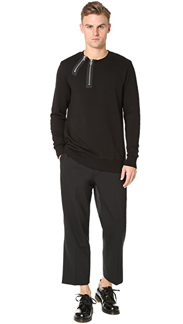 Matthew Miller Rogue Double Zip Neck Sweatshirt