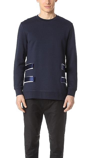 Matthew Miller Sweatshirt with Military Details