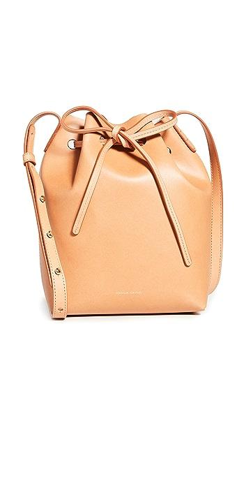 Mansur Gavriel Mini Bucket Bag - Cammello/Rosa