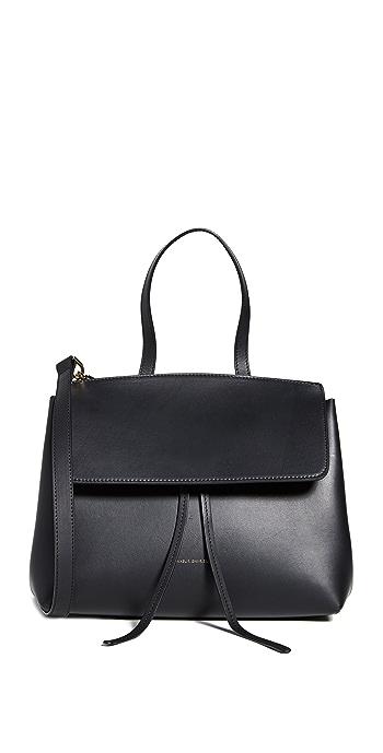 Mansur Gavriel Mini Lady Bag - Black/Flamma
