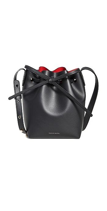 Mansur Gavriel Mini Mini Bucket Bag - Black/Flamma