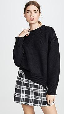 Wool Oversized Crew Sweater