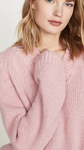 Mansur Gavriel V Neck Alpaca Sweater