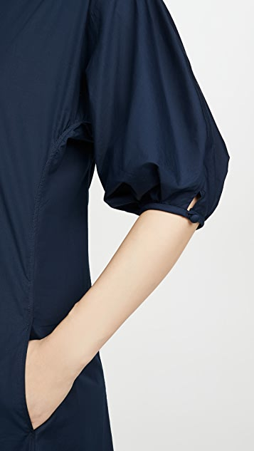 Mansur Gavriel Ruched Cotton Dress