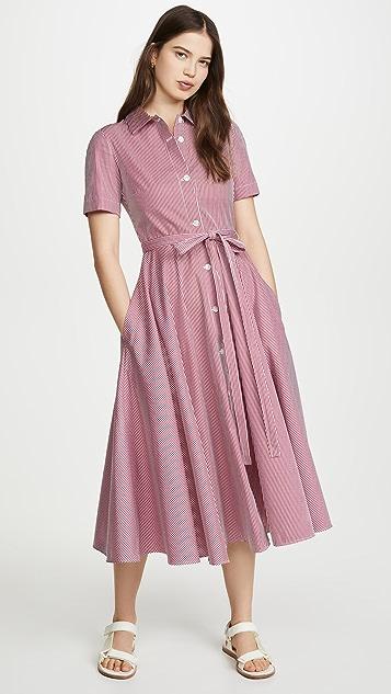 Mansur Gavriel Gingham Shirt Dress
