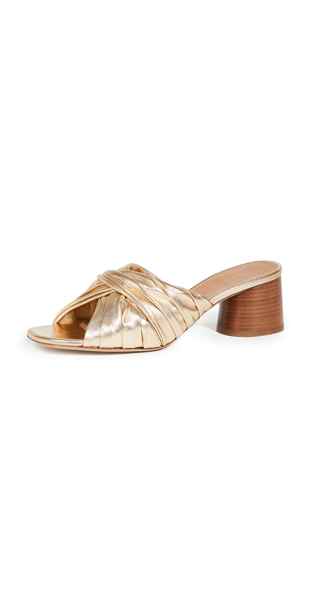 Mansur Gavriel Ruched Open Toe Mule Slides