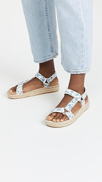 Manebi x Loveshack Fancy Hiking 麻编平底鞋