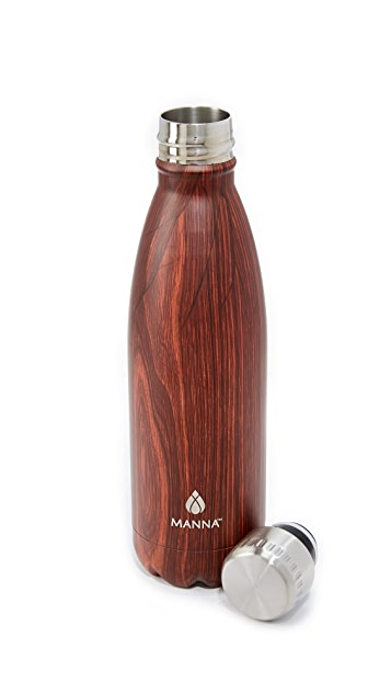 Manna 17oz Vogue Wood Water Bottle