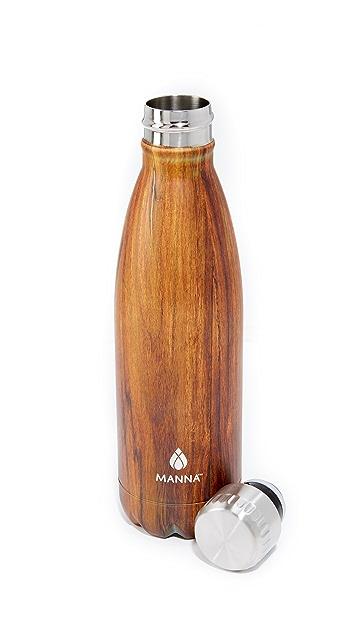 Manna 17oz Vogue Wood Water Bottle