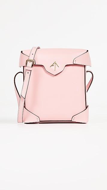 MANU Atelier Mini Pristine Box Bag - Bubblegum