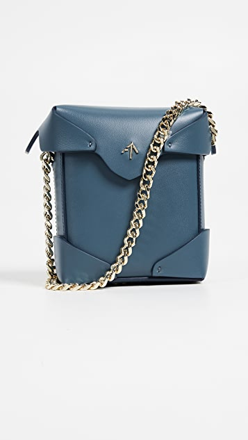 MANU Atelier Micro Pristine Box Bag with Chain