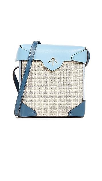 MANU Atelier Mini Pristine Box Tweed Bag