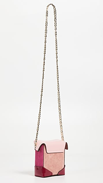 MANU Atelier Micro Pristine Combo Box Bag with Chain