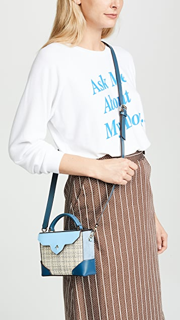 MANU Atelier Micro Bold Combo Top Handle Bag with Leather Strap